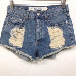"Brandy Melville Denim Shorts Size 27"" Waist"